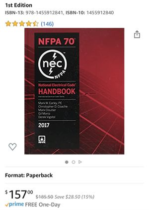 National Electrical Code 2017 Handbook (International Electrical Code) for Sale in Norwalk, CA