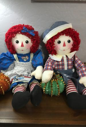 Raggedy Ann and Andy handmade dolls for Sale in El Mirage, AZ