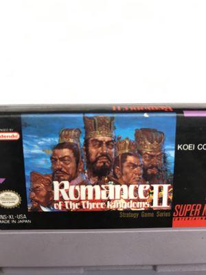 Romance of the three kingdoms II Super Nintendo SNES for Sale in Snohomish, WA