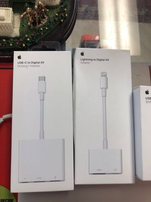 Original Apple Accessories- Multiport Adapter AV for Sale in Arlington, VA