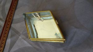 Vtg brass glass and mirror box 5 inch for Sale in San Bruno, CA