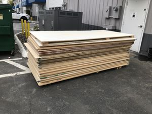 Free assortment of sheet goods. 4x8. MDF, Particle Board, Plywood for Sale in Portland, OR