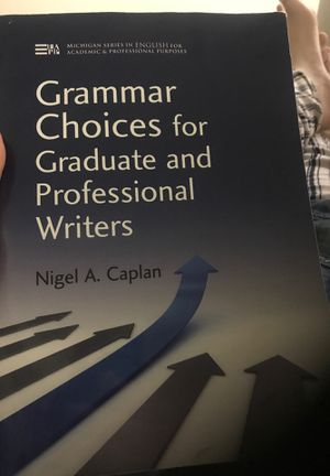 Grammar choices for graduate and professional writers for Sale in Falls Church, VA