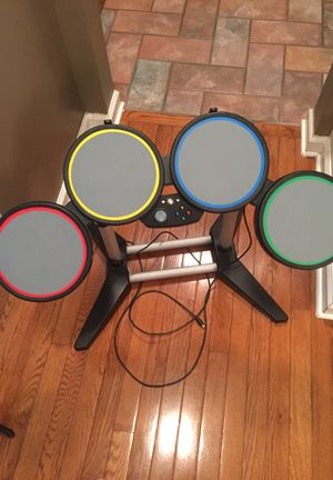 Rock band harmonix wired RICK BAND WIRED DRUM SET number 822149 excellent used condition for Sale in Plymouth, CT