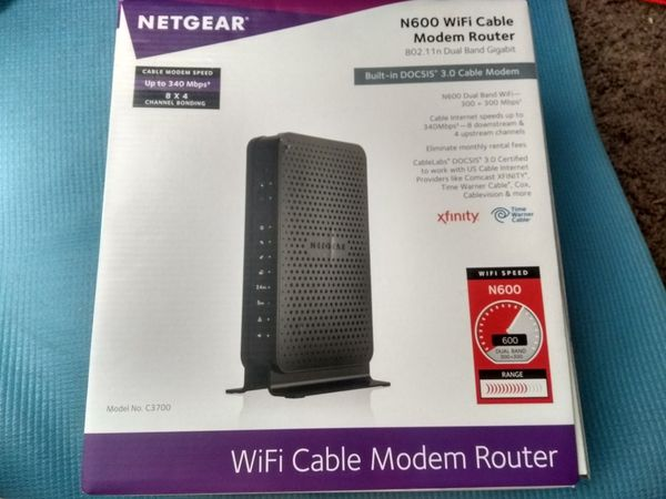 Netgear N600 Wifi DOCSIS 3.0 Cable Modem Router 802.11n Dual Band Gigabit