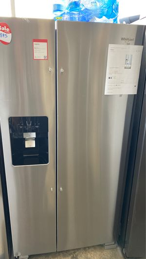 NEW WHIRPOOL SIDE BY SIDE REFRIGERATOR for Sale in Alexandria, VA