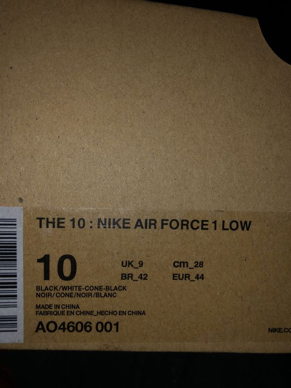"Off White Air Force's 1 ""The Ten"" Pack"