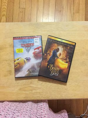 Disney DVD movies bundle Cars 3 and Beauty & the Beast for Sale in Miami Springs, FL