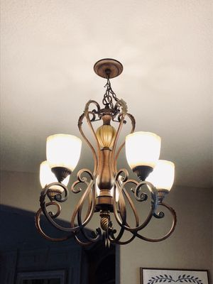 Dining table chandelier and 2 kitchen island lights for Sale in Washougal, WA
