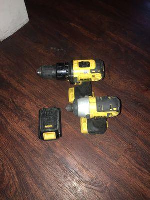Dewalt - drill gun +impact gun + battery 🔋 (PRICE FIRM) for Sale in Philadelphia, PA