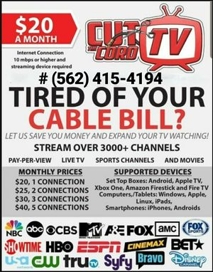 Tv Cable Provider for Sale in Paramount, CA