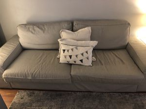 Moving sale... sofa, loveseat ottoman and side tables with lamps for Sale in Springfield, VA