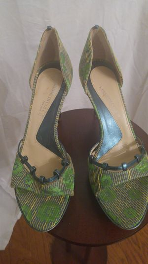 Kenneth Cole Multi Colored Fabric High Heeled Sandal for Sale in Baltimore, MD