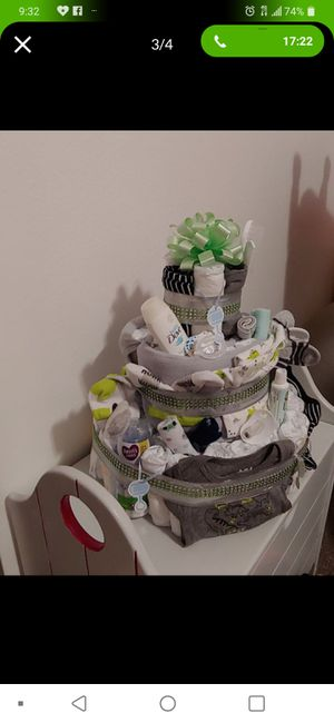Baby boy diaper cake for Sale in Kearns, UT