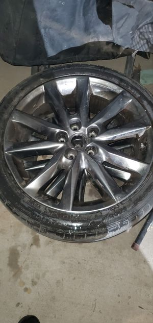 Mazda 3 rims used 18 inch one lil bent rim and one nail in one tire, tire size 215-45-18 for Sale in Santa Ana, CA