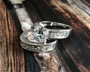 2pc Wedding Engagement Ring Set for Sale in Wichita, KS