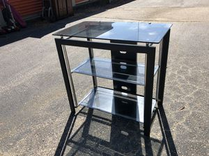 Black 3 Tier TV Entertainment Stand for Sale in Raleigh, NC