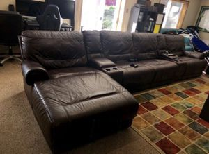 Large Brown Leather Electric Reclining Couch / Sofa for Sale in Seattle, WA