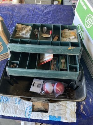 Fishing tackle box with some items $10 for Sale in Fowler, CA