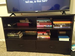 Black TV stand w/ drawers for Sale in Fort Wayne, IN