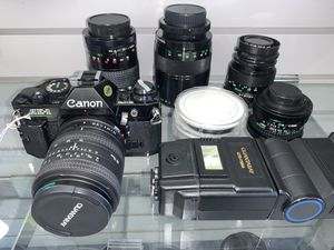 Canon AE-1 w/Accessories for Sale in Fort Worth, TX