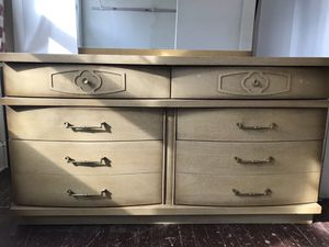 Vintage dresser with mirror and matching chest of drawers for Sale in Washington, DC