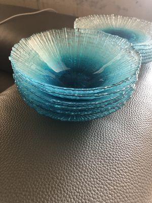 Glassware dessert cups and small snack plates for Sale in Ashburn, VA