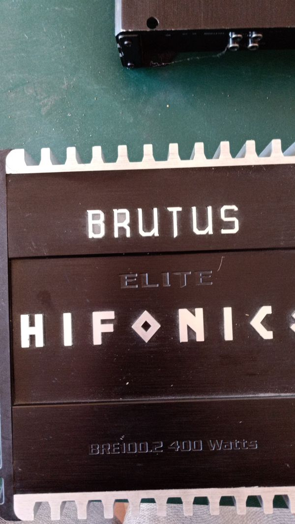 Brutus elite hifonics 400 watts amplifier