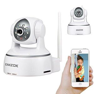 DMZOK WiFi Camera, Wireless Security IP Camera, Nanny Cam, HD 720P Home Security Camera with Night Vision Two Way Audio Motion Detection (White) for Sale in Los Angeles, CA