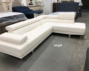 $39 Down Payment 💳Financing available🛒Antares White Modern Sectional | U7101 for Sale in Chevy Chase,  MD