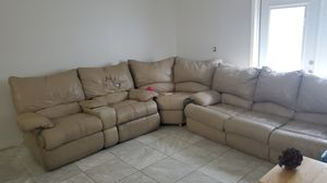 Free sectional with recliner and folding bed for Sale in Haines City, FL