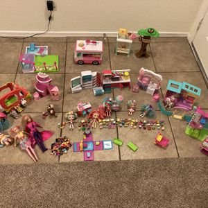Girl toys LOT: Shopkins, Barbie, Shoppies, Etc for Sale in Glendale, AZ