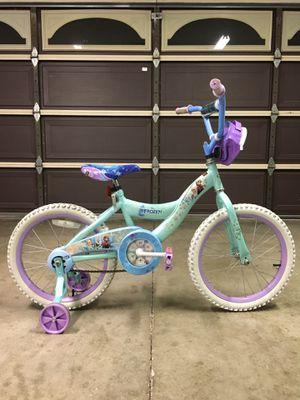 "18"" HUFFY DISNEY FROZEN GIRLS BIKE / KIDS BIKE WITH TRAINING WHEELS for Sale in Mission Viejo, CA"
