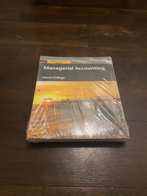 Managerial Accounting, Norco college edition Acc 1B for Sale in Corona, CA
