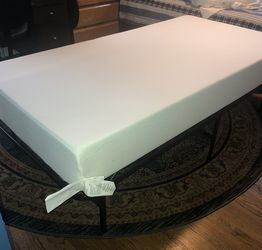 Twin Comfort Memory Foam Mattress And Bed Frame for Sale in Glen Head,  NY