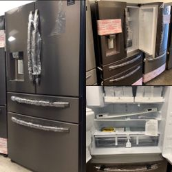NEW OUT OF BOX SAMSUNG TUSCAN STEEL FOUR DOOR REFRIGERATOR for Sale in Hemet,  CA