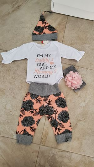 Four piece baby outfit. Size from 0-3 months for Sale in HALNDLE BCH, FL