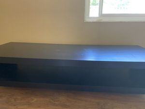 TV stand black wood for Sale in Seattle, WA