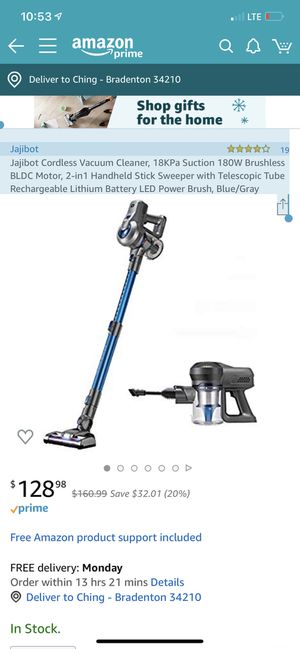 Jajibot 4.0 out of 5 stars 19 Reviews Jajibot Cordless Vacuum Cleaner, 18KPa Suction 180W Brushless BLDC Motor, 2-in1 Handheld Stick Sweeper with T for Sale in San Antonio, TX