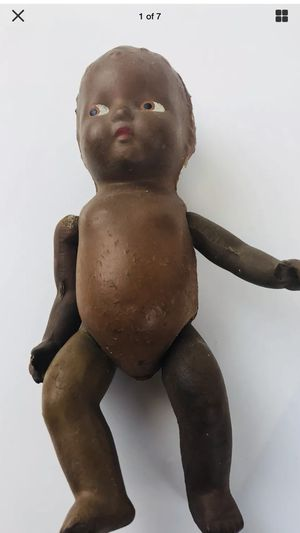 """Vintage Antique Baby Doll Composition Black African American 9.5"""" Hand Painted for Sale in Cleveland, OH"""