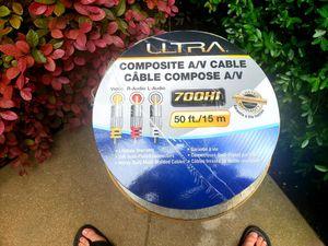 50 feet composite A/V cable for Sale in Cedar Park, TX