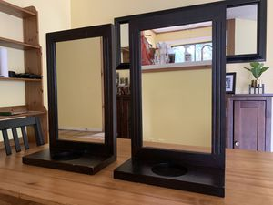 Set of Black mirror + candle holders for Sale in Hill Country Village, TX