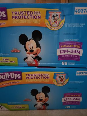 Huggies Pull Ups size 12 - 24 M & two bags of 2T - 3T for Sale in Blaine, MN