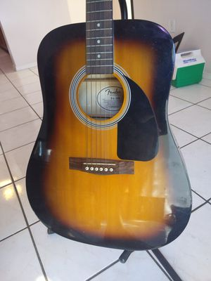 Fender acoustic guitar for sale includes bag and tripod for Sale in Mesa, AZ