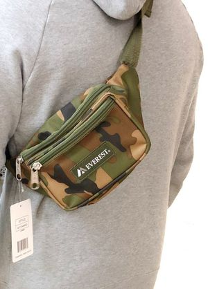 Brand NEW! Camouflage Waist/Shoulder/Crossbody/Fanny Pack/Side Bag/Pouch For Traveling/Everyday Use/Work/Hiking/Biking/Gifts $10 for Sale in Carson, CA