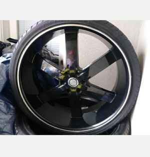26' inch black rims for Sale in Los Angeles, CA
