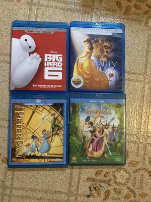 DISNEY BLU RAY's TANGLED PETER PAN BIG HERO 6 BEAUTY BEAST for Sale in Glassboro, NJ