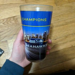 Seattle Seahawks Superbowl Glass for Sale in Lacey, WA