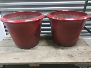 Set big heavy flower pots for Sale in Hickory Hills, IL