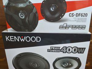 Car speakers : ( total 2 pairs ) 1 pair JVC 6.5 inch 2 way 300 watts & 1 pair KENWOOD 6×9 3 way 400 watts car speakers for Sale in Bell Gardens, CA